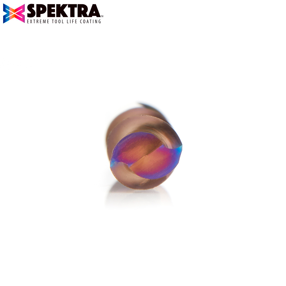 48220-K Solid Carbide Spektra™ Extreme Tool Life Coated Spiral Plunge 6mm Dia x 25mm x 6mm Shank
