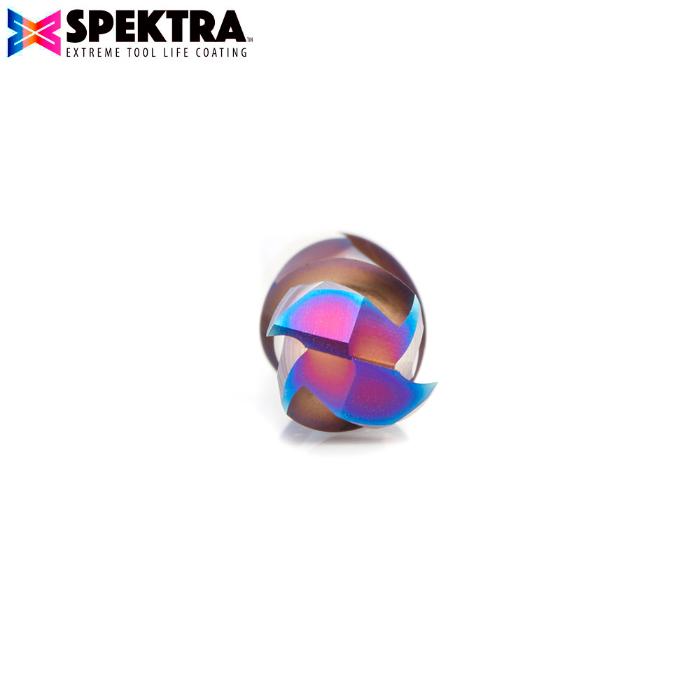 48354-K CNC Solid Carbide Spektra™ Extreme Tool Life Coated Mortise Compression Spiral 10mm Dia x 22mm x 10mm Shank