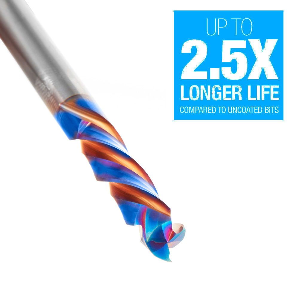 48358-K CNC Solid Carbide Spektra™ Extreme Tool Life Coated Mortise Compression Spiral 6mm Dia x 25mm x 6mm Shank