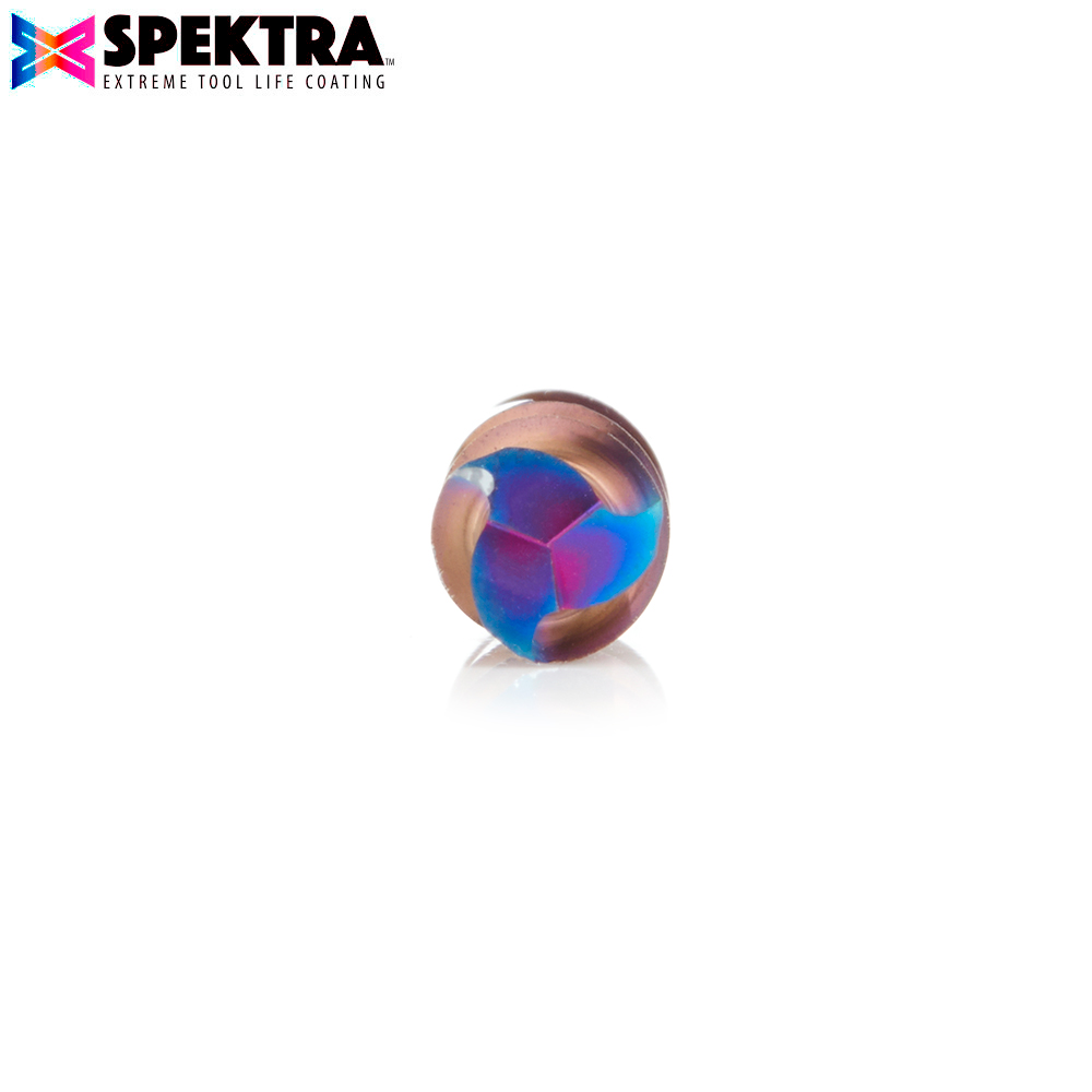48502-K Solid Carbide Spektra™ Extreme Tool Life Coated Spiral Plunge 6mm Dia x 19mm x 6mm Shank Down-Cut, 3-Flute