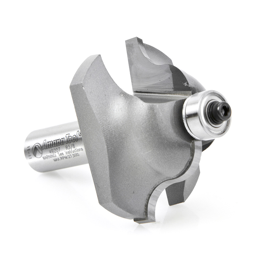 49207 Carbide Tipped Roman Ogee 3/8 Radius x 2 Inch Dia x 1 Inch x 1/2 Shank