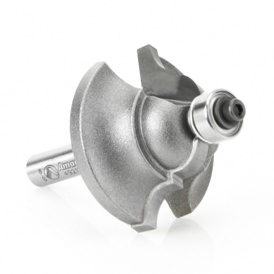 49212 Carbide Tipped Double Roman Ogee 1/4 Radius x 1-3/8 Dia x 7/8 x 1/4 Inch Shank