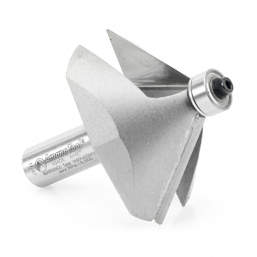 49406 Carbide Tipped Chamfer 45 Degree x 2-3/8 Dia x 1 Inch x 1/2 Shank