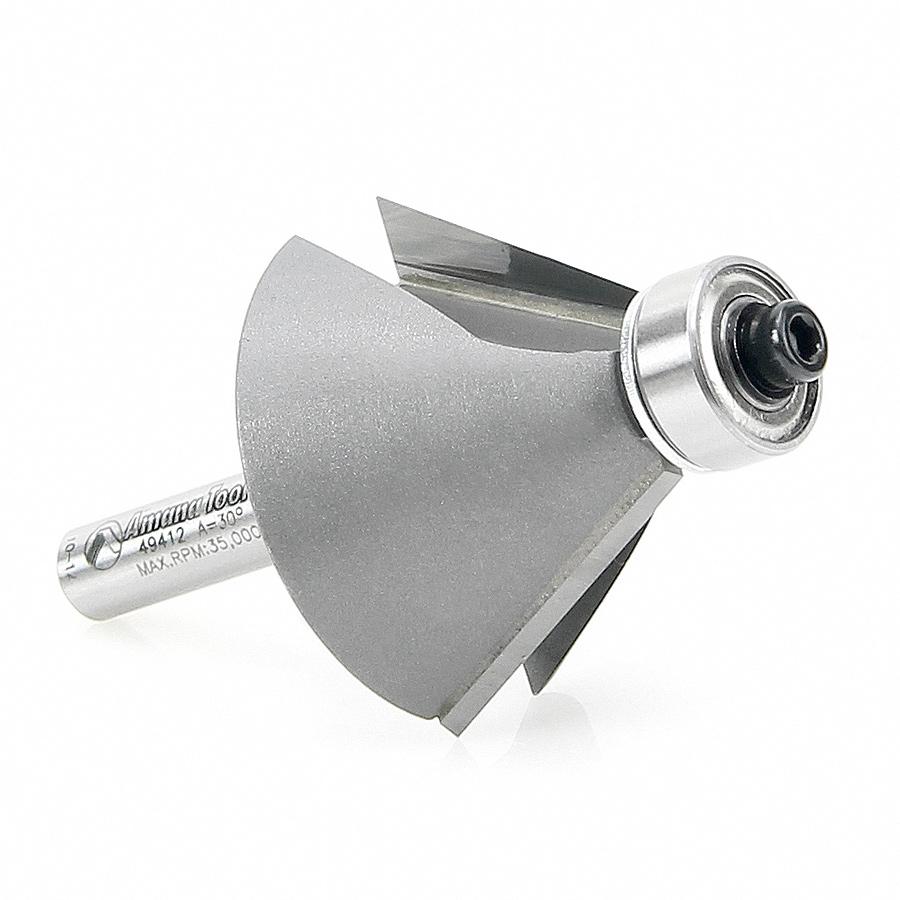 49412 Carbide Tipped Chamfer 30 Degree x 1-3/8 Dia x 13/16 x 1/4 Inch Shank