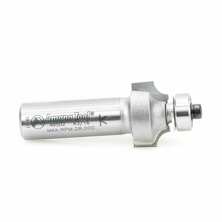 49502 Carbide Tipped Corner Round 3/16 Radius x 7/8 Dia x 1/2 x 1/2 Inch Shank