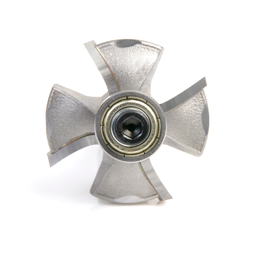 49545 Carbide Tipped 4 Flute Corner Rounding/Beading 1/2 Radius x 1-5/8 Dia x 11/16 x 1/2 Inch Shank