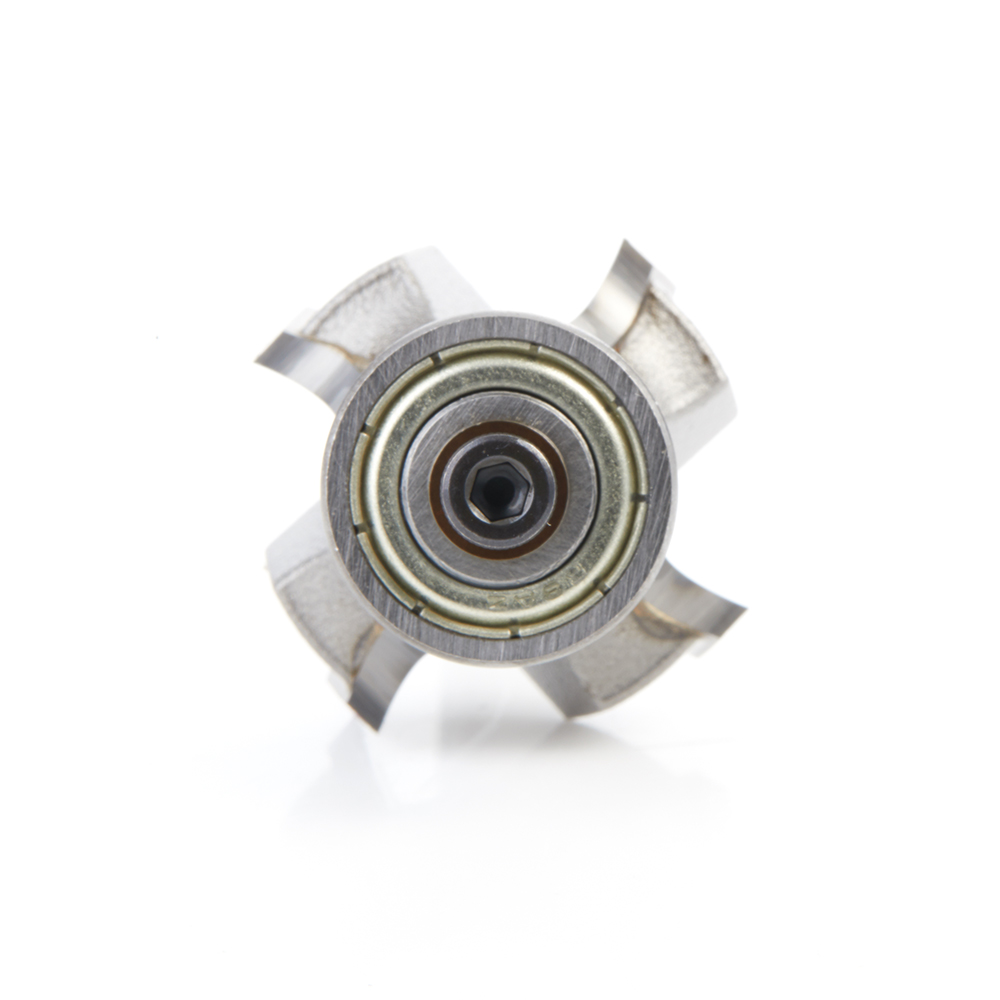 49546 Carbide Tipped 4 Flute Corner Rounding/Beading 3/16 Radius x 1 Dia x 1/2 x 1/4 Inch Shank