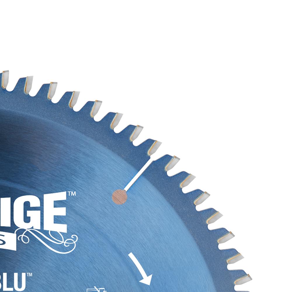 510801C Electro-Blu™ Carbide Tipped Aluminum and Non-Ferrous Metals 10 Inch Dia x 80T TCG, -6 Deg, 5/8 Bore, Non-Stick Coated