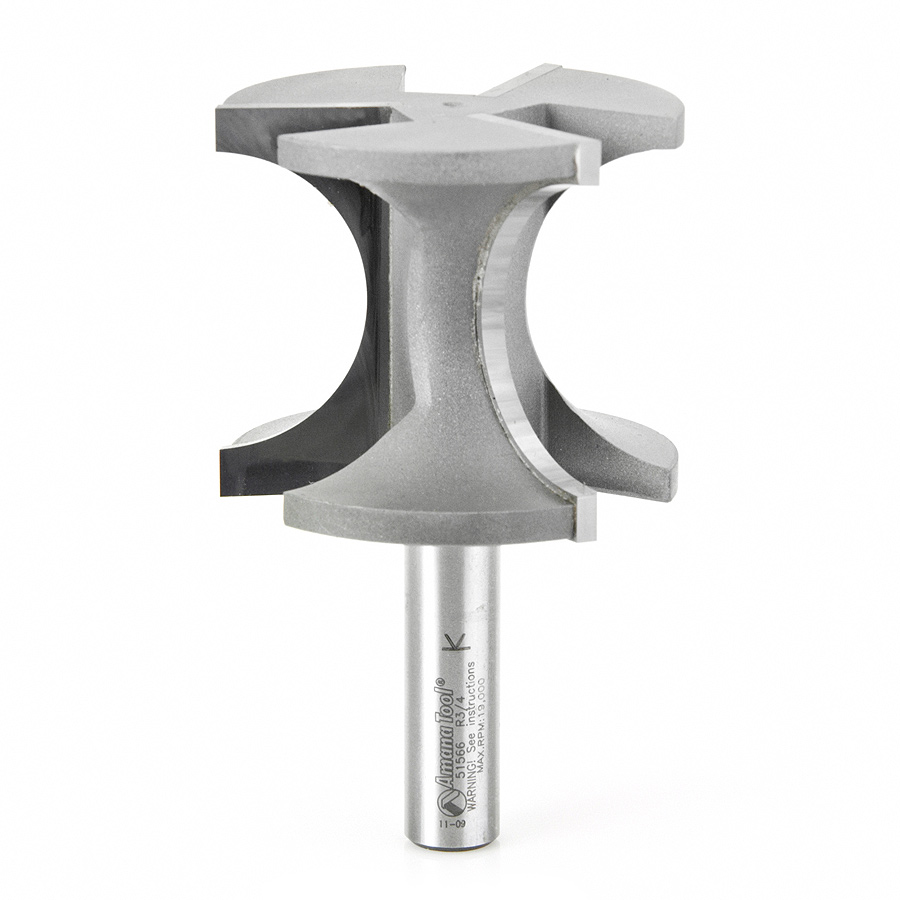 51566 Carbide Tipped Bullnose 3/4 Radius x 2-3/8 Dia x 2 Inch x 1/2 Shank