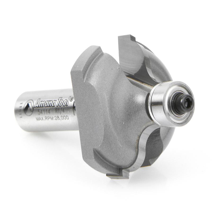 54114 Carbide Tipped Ogee Fillet 1/4 Radius x 1-5/8 Dia x 3/4 x 1/2 Inch Shank
