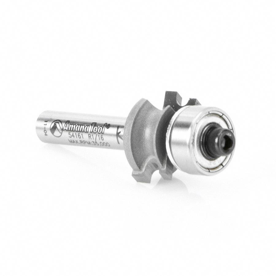 54161 Carbide Tipped Corner Round 1/16 Radius x 45/64 Dia x 5/16 x 1/4 Inch Shank
