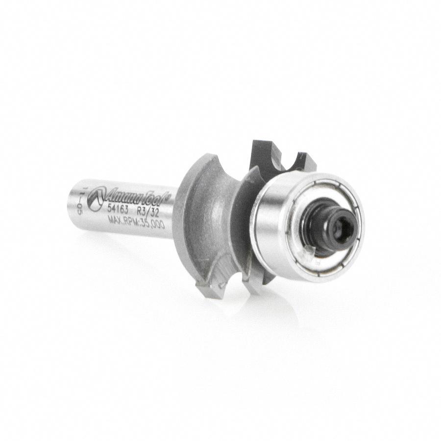 54163 Carbide Tipped Corner Round 3/32 Radius x49/64 Dia x 25/64 x 1/4 Inch Shank