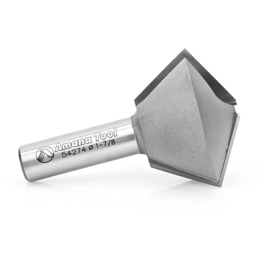 54274 Carbide Tipped Multi-Sided Glue Joint 60 / 30 Deg x 1-7/8 Dia x 1-1/4 x 1/2 Inch Shank