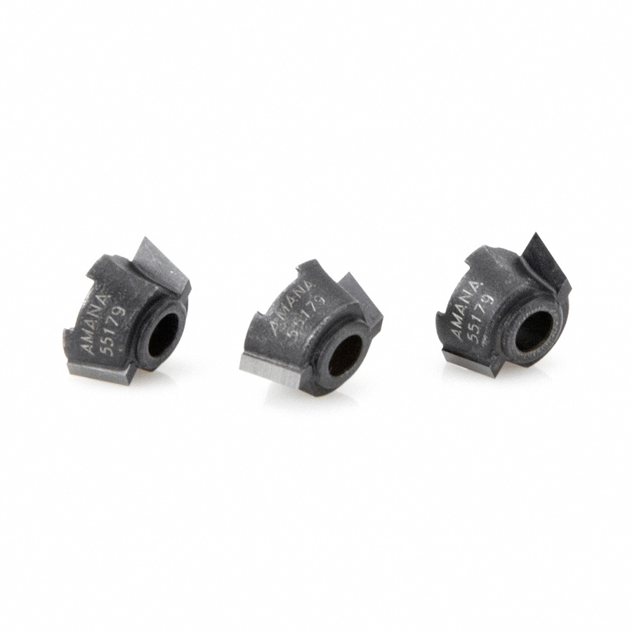 55179 3-Pack of 15 Degree Carbide Tipped Replacement Cutters for 47179 (Ocemco System)