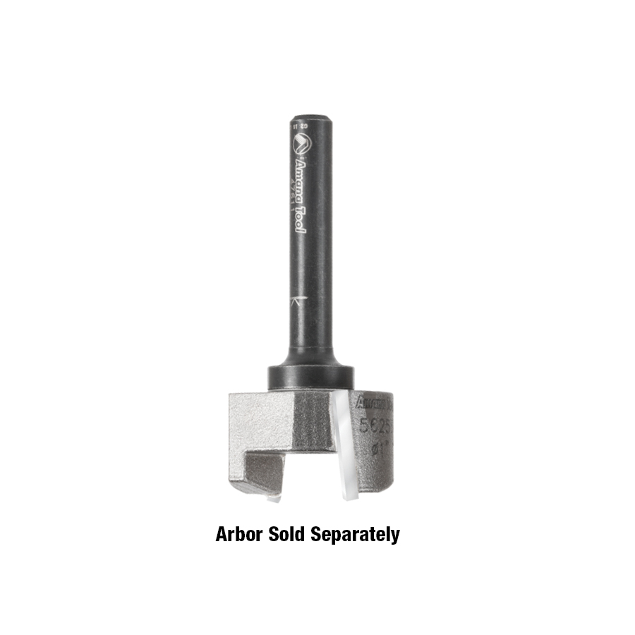 55256 Carbide Tipped Mortising Screw Down Shear Cutter 1-1/8 Dia x 11/16 Inch x 1/4 - 28 Thread