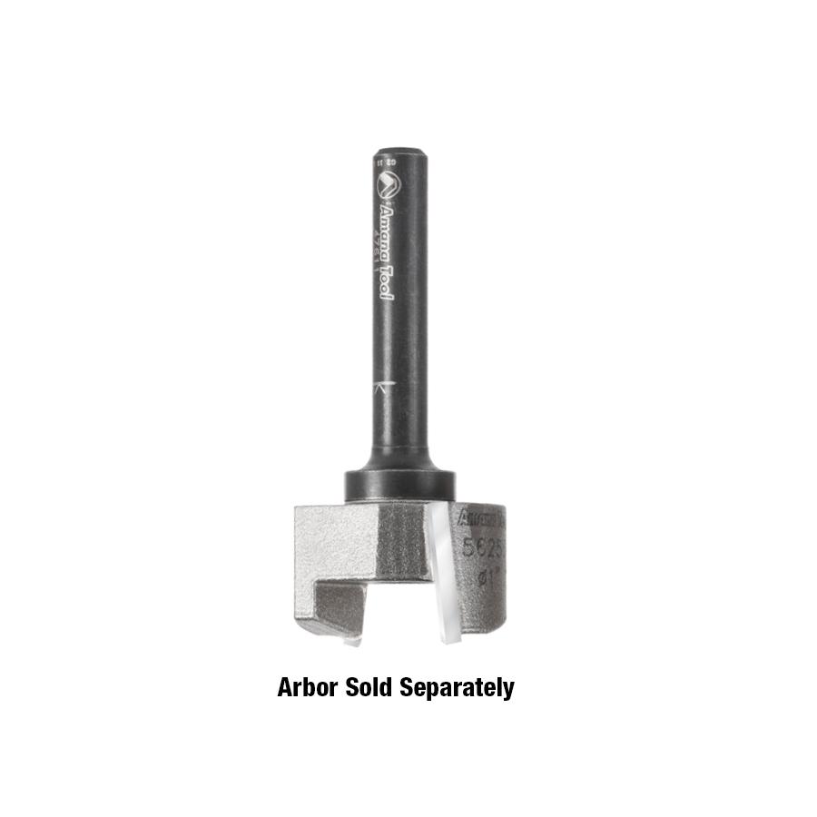 55258 Carbide Tipped Mortising Screw Down Shear Cutter 1-1/4 Dia x 5/8 Inch x 1/4 - 28 Thread