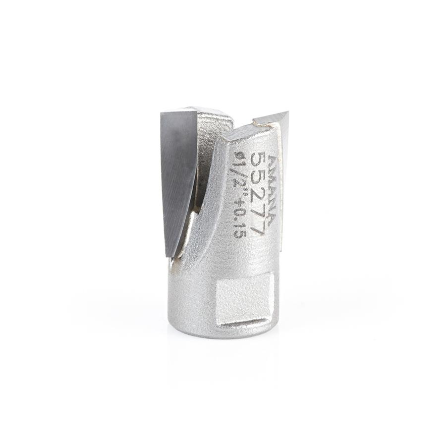 55277 Carbide Tipped Mortising Screw Down Shear Cutter 1/2 + 0.15 Dia x 9/16 Inch x 1/4 - 28 Thread