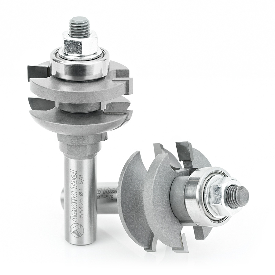 55426 2-Piece Carbide Tipped Historical Shaker Door 1-5/8 Dia x 7/8 x 1/2 Inch Shank Set