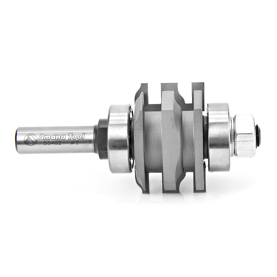 55462 Carbide Tipped One Piece Ogee Stile & Rail 2 Dia x 1-9/32 x 7/32 Radius x 1/2 Inch Shank