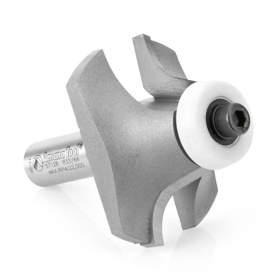57128 Carbide Tipped Undermount Bowl Solid Surface 2-1/8 Dia x 1 Inch x 18 Deg x 1/2 Shank