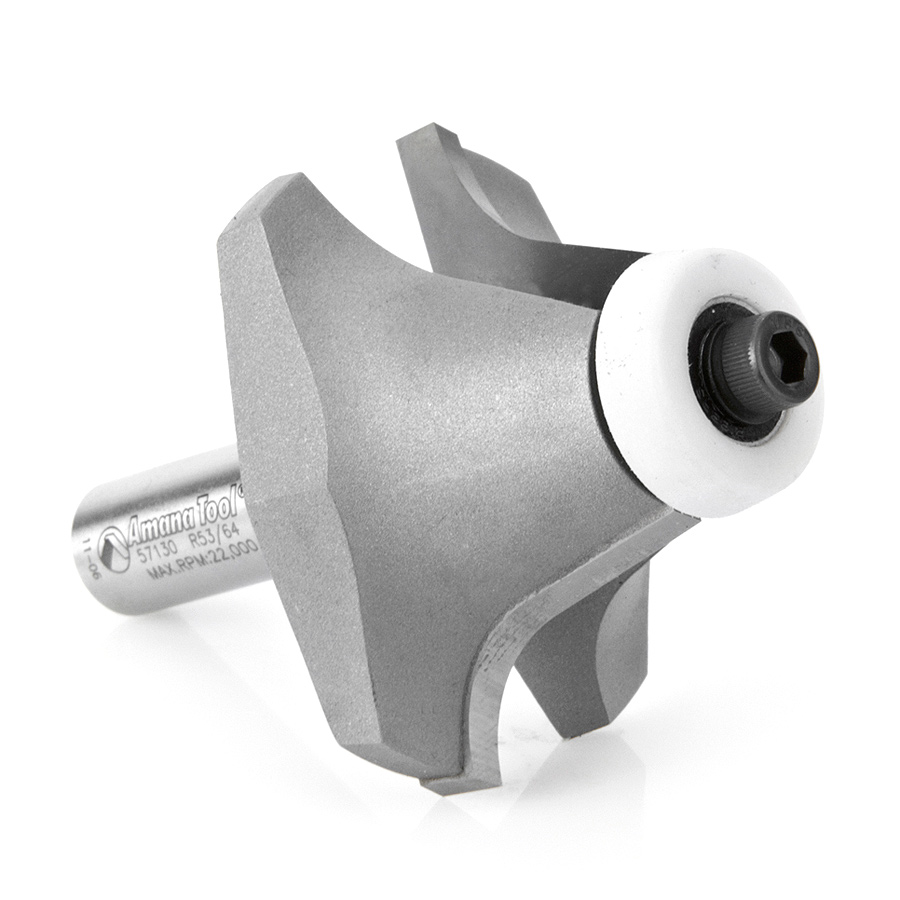 57130 Carbide Tipped Undermount Bowl Solid Surface 2-1/4 Dia x 1-1/4 x 18 Deg x 1/2 Inch Shank
