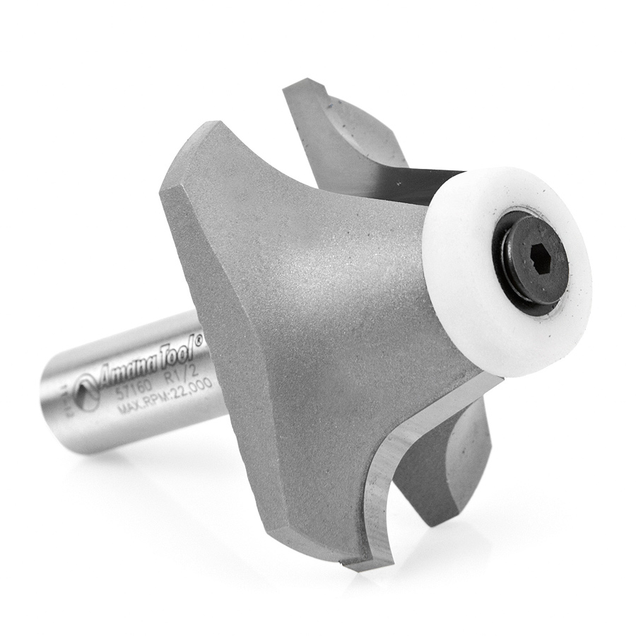 57160 Carbide Tipped Undermount Bowl Solid Surface 2-1/8 Dia x 1 Inch x 17 Deg x 1/2 Shank