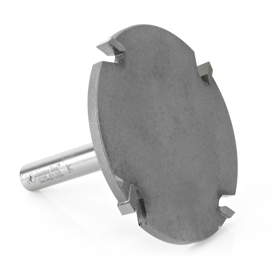 57166 Carbide Tipped 4 Wing Cut Out Solid Surface 3-5/8 Dia x 1/4 x 1/2 Inch Shank x 1 Depth of Cut