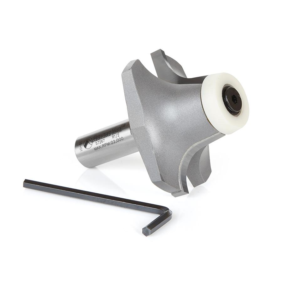 57267 Carbide Tipped Undermount Bowl Solid Surface 2-9/64 Dia x 63/64 x 10 Deg x 1/2 Inch Shank