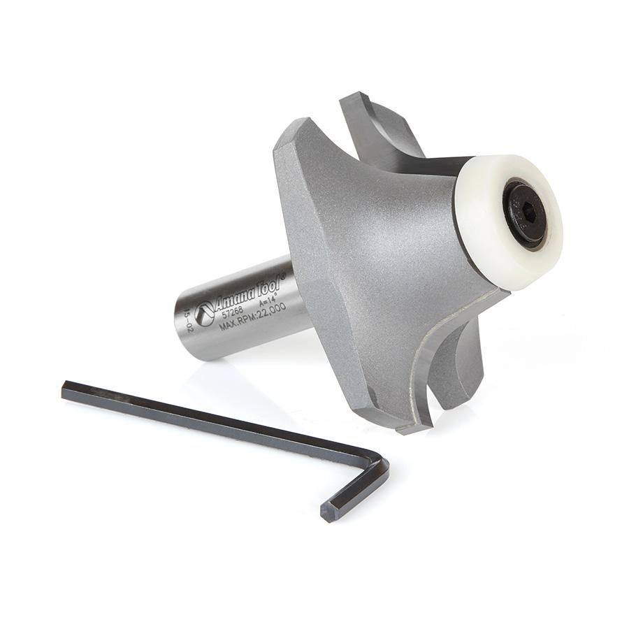 57268 Carbide Tipped Undermount Bowl Solid Surface 2-3/16 Dia x 63/64 x 14 Deg x 1/2 Inch Shank