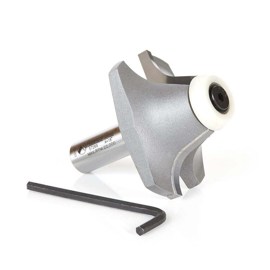 57269 Carbide Tipped Undermount Bowl Solid Surface 2-7/32 Dia x 63/64 x 18 Deg x 1/2 Inch Shank