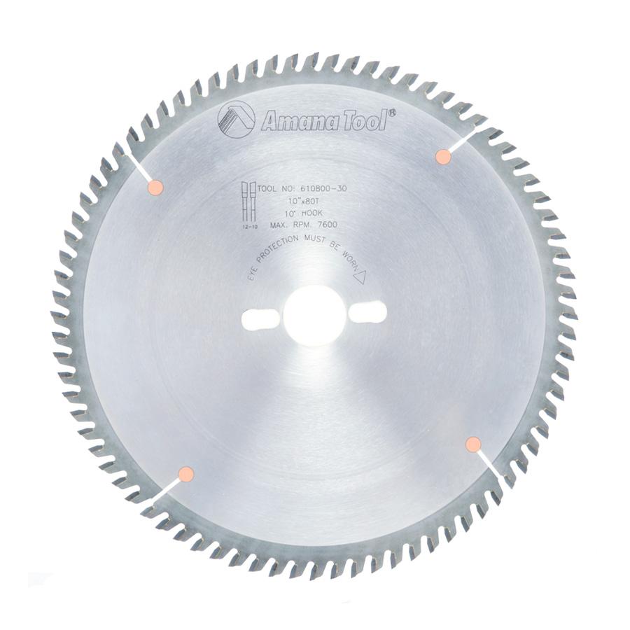 610800-30 Carbide Tipped Trim 10 Inch Dia x 80T ATB, 10 Deg, 30mm Bore