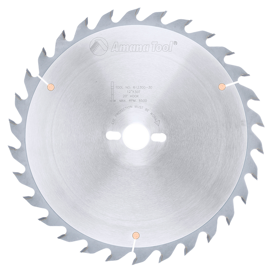 612300-30 Carbide Tipped Ripping Standard 12 Inch Dia x 30T FT, 20 Deg, 30mm Bore