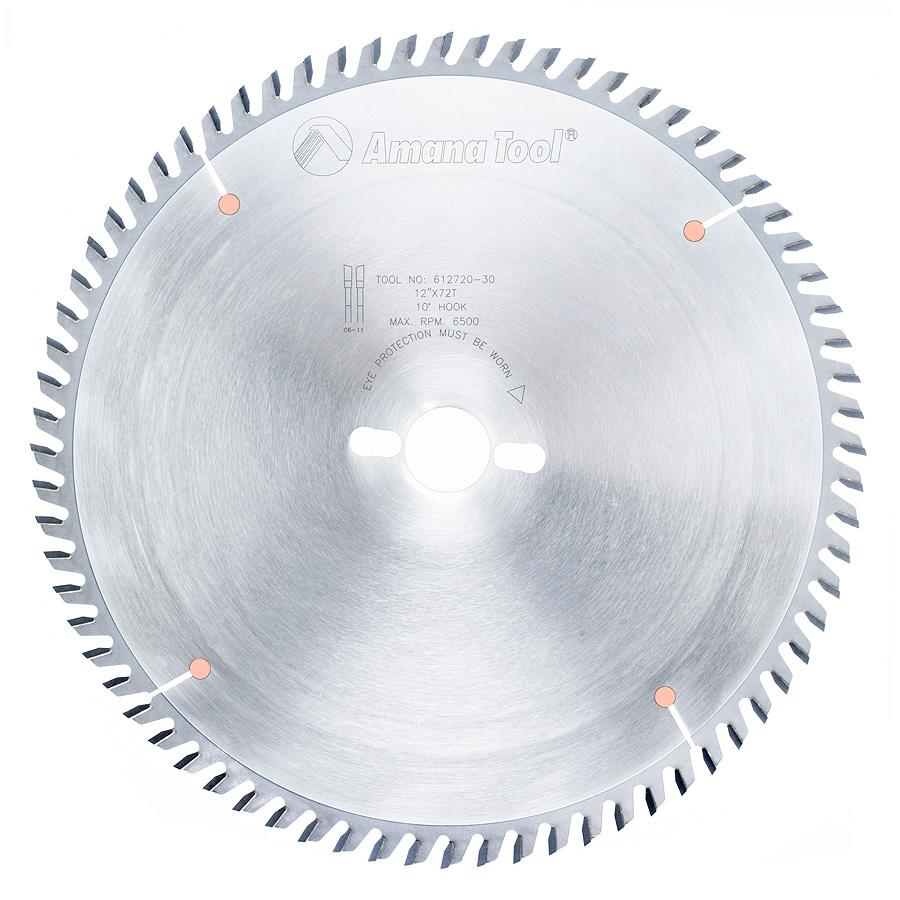 612720-30 Carbide Tipped Cut-Off and Crosscut 12 Inch Dia x 72T ATB, 10 Deg, 30mm Bore