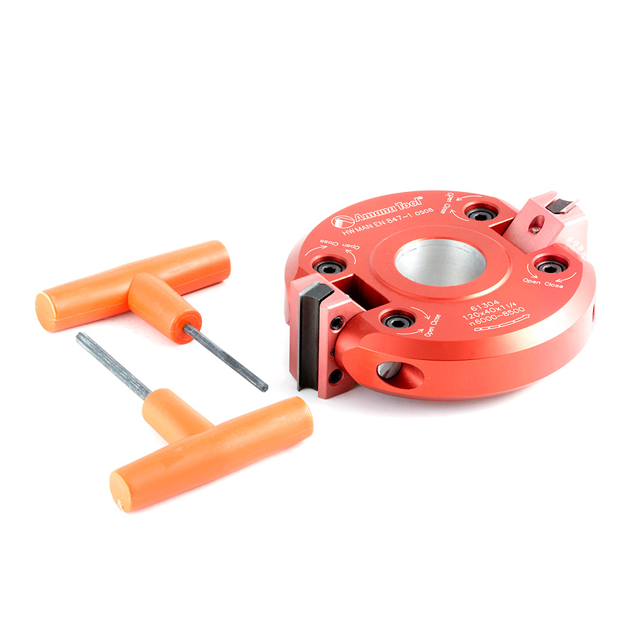 61304 Insert Carbide Aluminum Adjustable Chamfer -45 to +45 x 120mm (4-3/4) Dia x 40mm (1-1/2) x 1-1/4 Bore