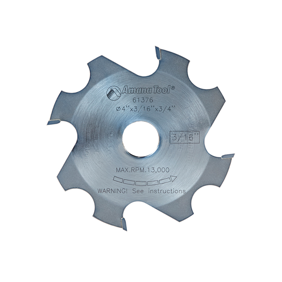 61376 Replacement Groover 4 Inch x 3/16 Kerf x 4 Teeth x 3/4 Bore for Prestige Mighty Dado Adjustable Dado/Groover.