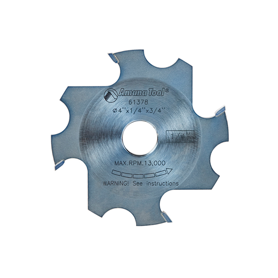 61378 Replacement Groover 4 Inch x 1/4 Kerf x 4 Teeth x 3/4 Bore for Prestige Mighty Dado Adjustable Dado/Groover.