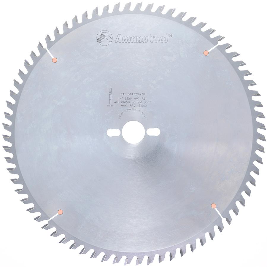 614720-30 Carbide Tipped Cut-Off and Crosscut 14 Inch Dia x 72T ATB, 10 Deg, 30mm Bore
