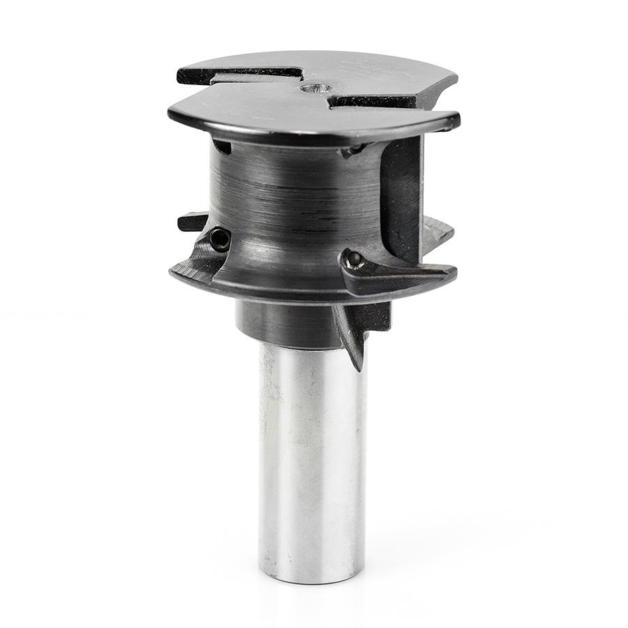 61522 CNC Concave Insert Carbide 80mm Dia x 40mm x 25mm Shank Router Bit