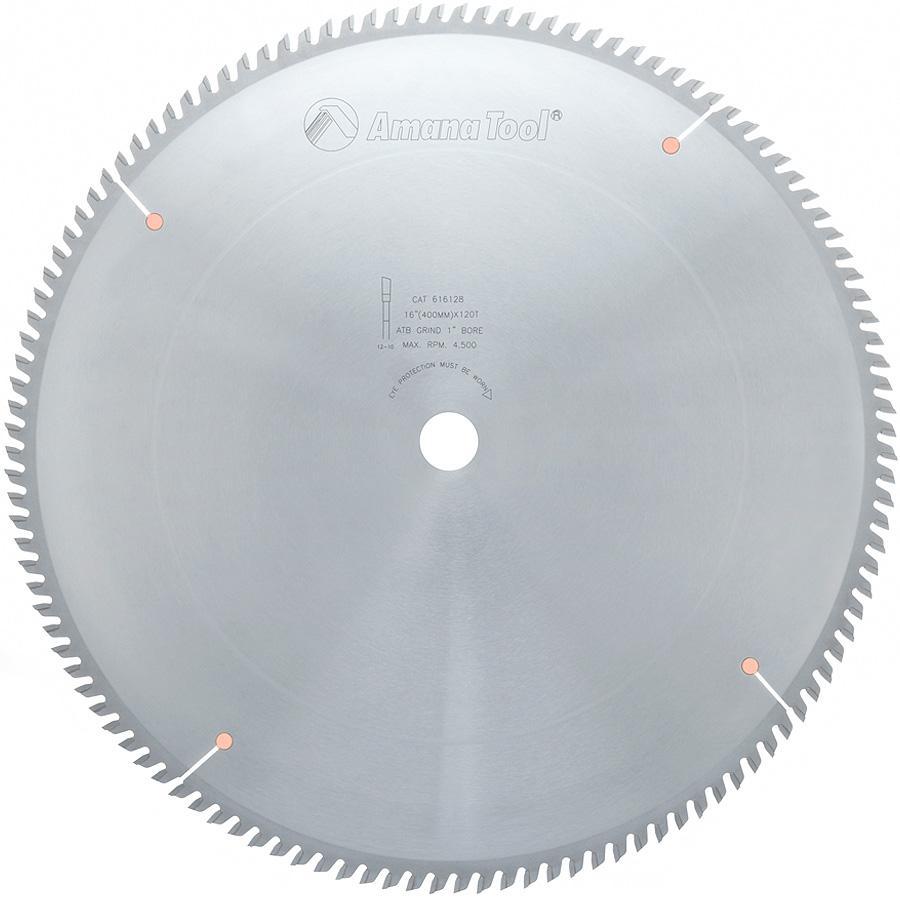 616128 Carbide Tipped Trim 16 Inch Dia x 120T ATB, 10 Deg, 1 Inch Bore