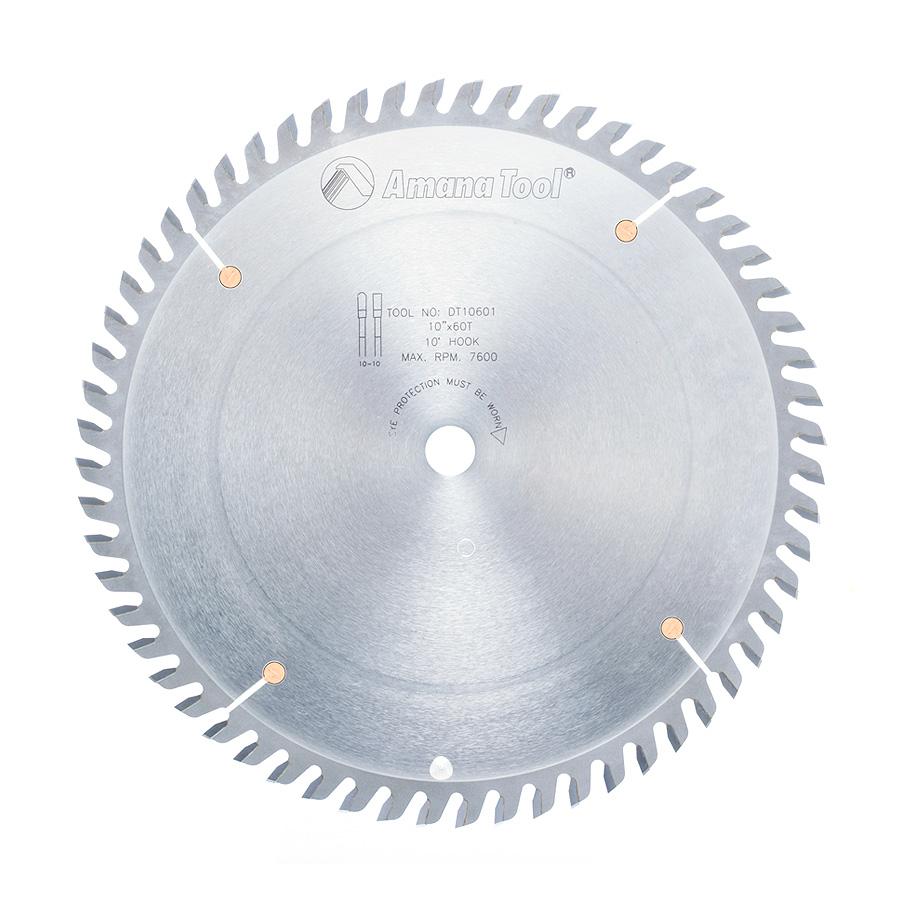 DT10601 Carbide Tipped Ditec 2000 Cut-Off and Crosscut 10 Inch Dia x 60T TCG, 10 Deg, 5/8 Bore