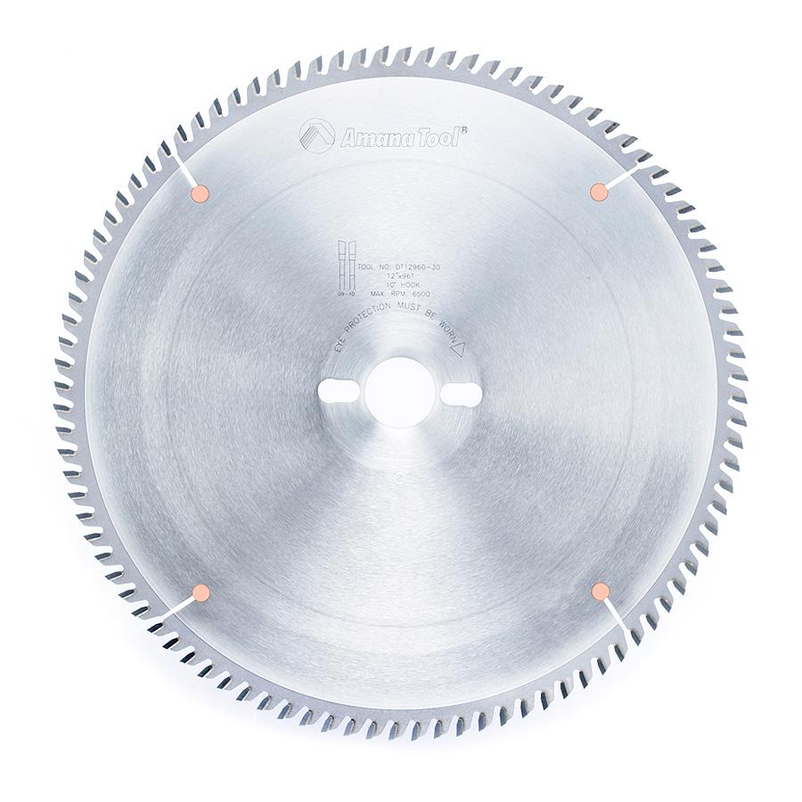 DT12960-30 Carbide Tipped Sliding Table Saw 12 Inch Dia x 96T ATB, 10 Deg, 30mm Bore