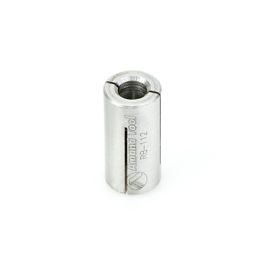 RB-112 High Precision Steel Router Collet Reducer 12mm Overall Dia x 6mm Inner Dia x 1 Inch Long