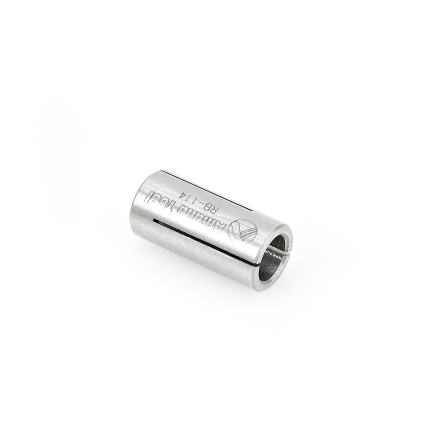 RB-114 High Precision Steel Router Collet Reducer 12mm Overall Dia x 8mm Inner Dia x 1 Inch Long
