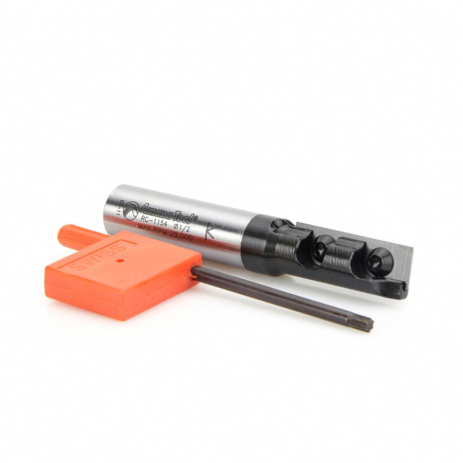 RC-1154 Insert Carbide Straight 1-Flute x 1/2 Dia x 30mm x 1/2 Inch Shank