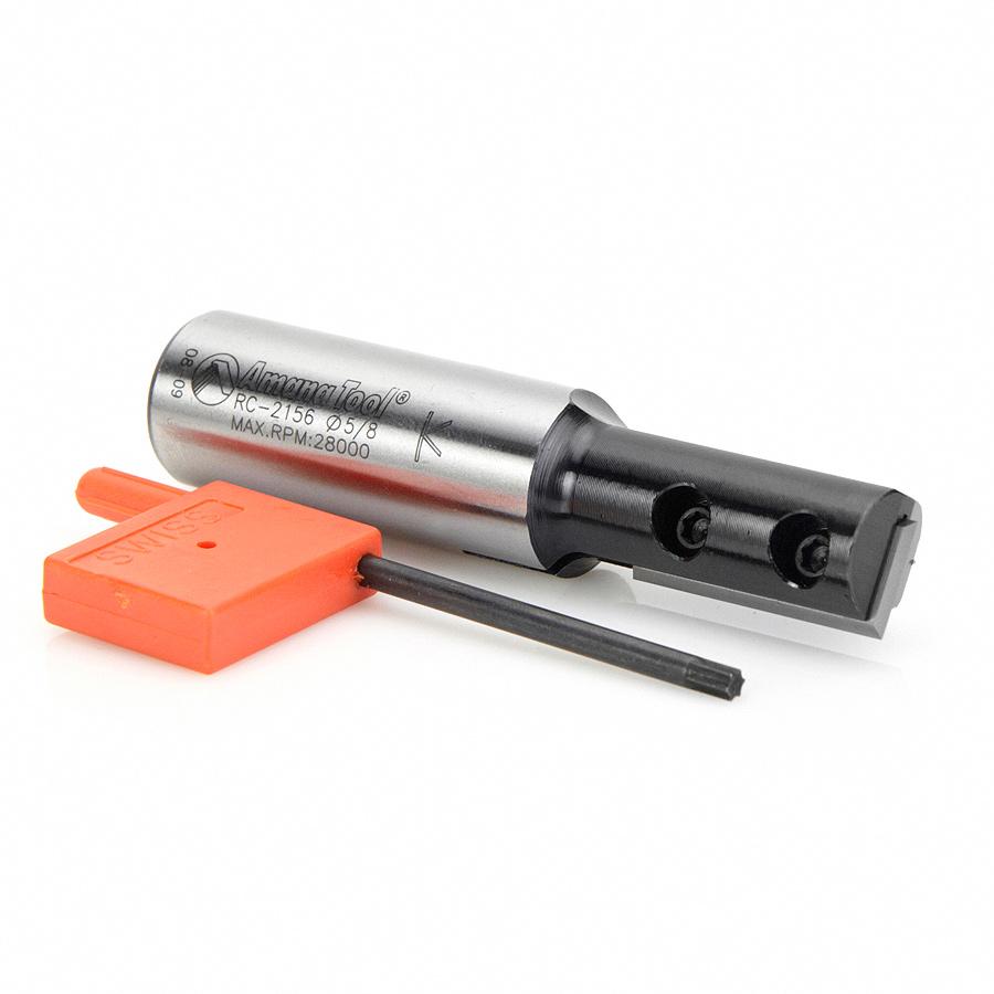 RC-2156 CNC Insert Straight 1-Flute x 5/8 Dia x 30mm x 3/4 Shank