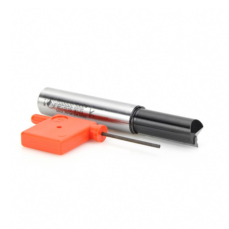 RC-3110 CNC Insert Straight Single Flute 1/2 Dia x 30mm x 1/2 Inch Shank