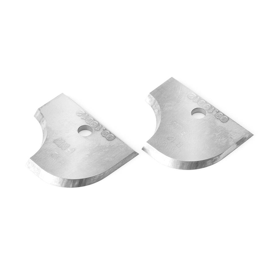RCK-76 Pair of 12mm Radius Insert Carbide Knives for Corner Round/Cove no. 61324