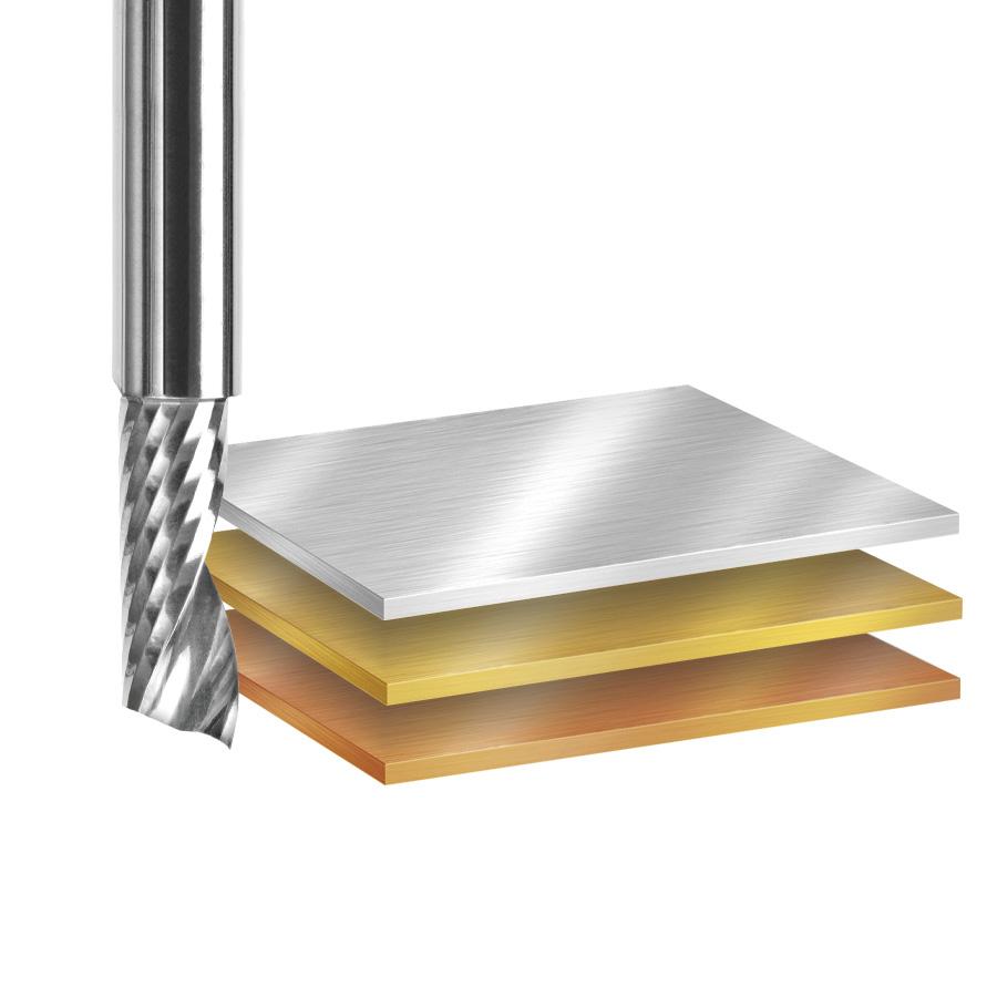 AMS-160 8-Pc Aluminum Cutting Solid Carbide Spiral