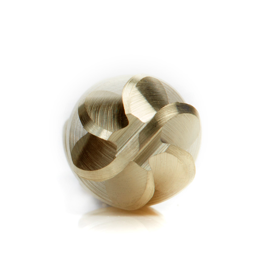 BURS-122NF Solid Carbide Radius Cylinder Shape 3/8 Dia x 3/4 x 1/4 Shank Non-Ferrous ZrN Coated SC Burr Bit for Die-Grinders