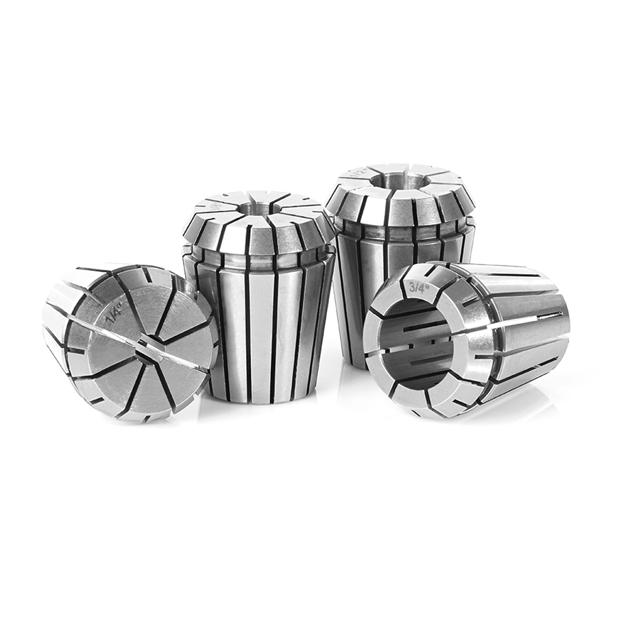 CO-ER32 4-Pc CNC High Precision 1/4, 3/8, 1/2 & 3/4 Inch Dia x 30mm Long Spring Collet Collection for ER32 Tool Holder